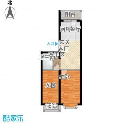 金豪斯经典二期49.47平方米户型