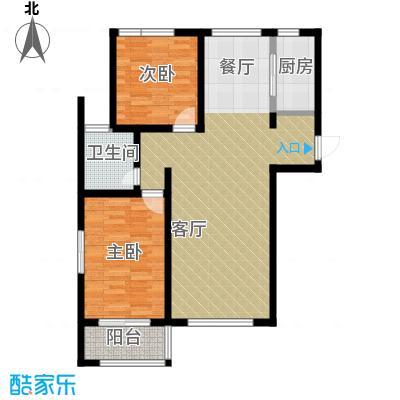 公园里102.00㎡4#(偶数)楼B2户型2室2厅1卫