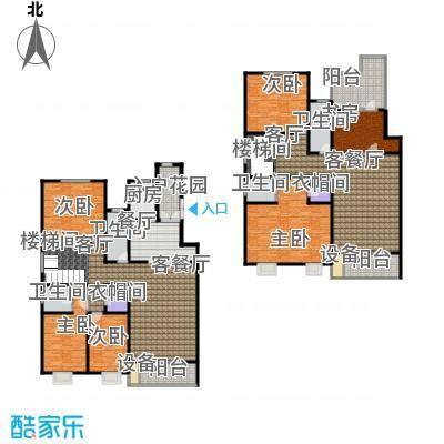 博鑫青年城358.00㎡跃层六室三厅三卫户型6室3厅3卫