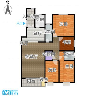 博鑫青年城182.00㎡四室两厅两卫户型4室2厅2卫