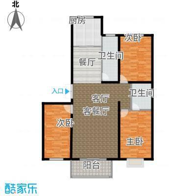 博鑫青年城137.00㎡三室两厅两卫户型3室2厅2卫