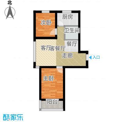 公园里74.00㎡1#楼E户型2室2厅1卫