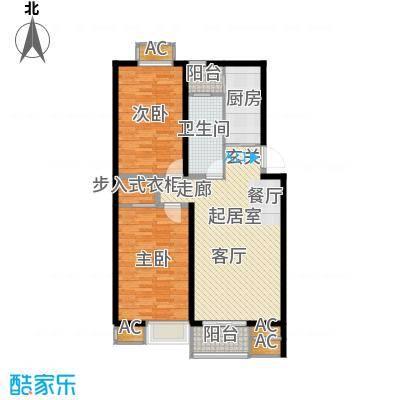 九号国际城103.80㎡h5两室两厅一卫户型