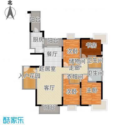 野风・现代景苑166.57㎡3#1单元01户型10室