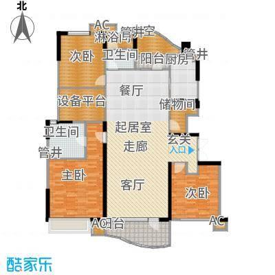 沈阳雅居乐花园155.28㎡A6户型3室2厅2卫