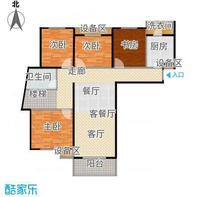 丽都鸿图阁(中低价商品房)135.51㎡三房两厅两卫E1户型135.51m2户型