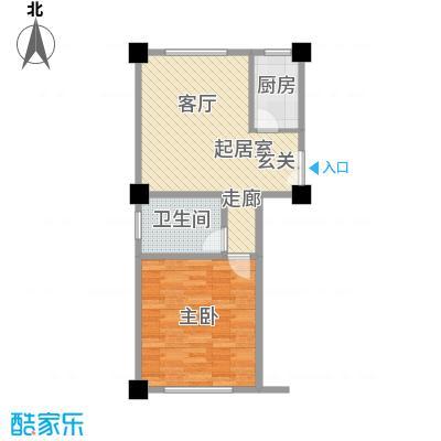 上城左岸69.00㎡三期户型图4户型1室1厅1卫