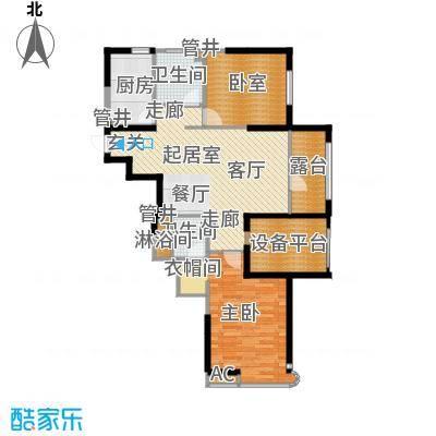 沈阳雅居乐花园112.86㎡E1户型二室二厅二卫户型2室2厅2卫-2