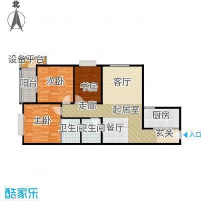 曲江海天华庭123.00㎡E户型 3室2厅2卫1厨户型3室2厅2卫