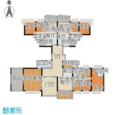 中澳丽珠花园405.10㎡户型8室5卫3厨