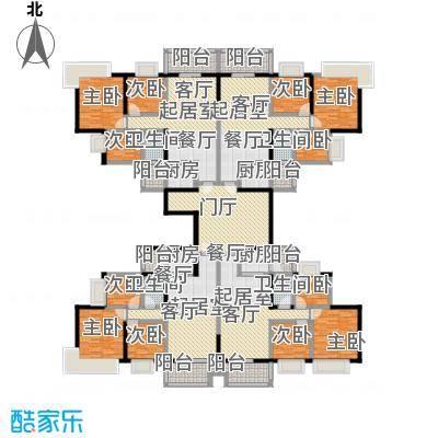 中澳丽珠花园330.48㎡户型9室4卫4厨