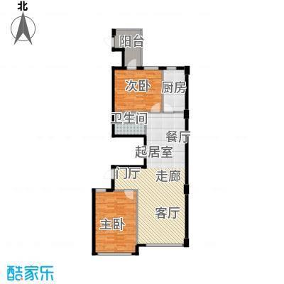 银河湾101.11㎡银河湾A1户型图户型2室2厅1卫