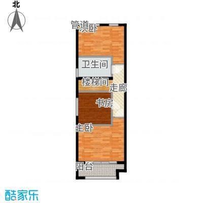 阳光100城市丽园B2-1户型2室1厅2卫