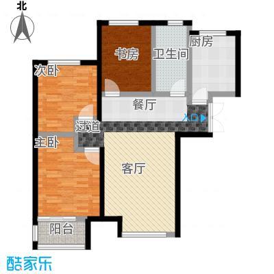 万和蓝山89.21㎡D1户型3室2厅1卫