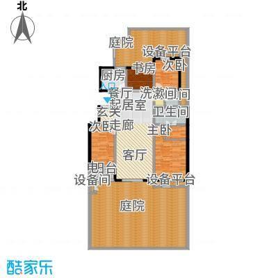 朝阳首府162.35㎡洋房1f-2四室两厅两卫户型4室2厅2卫