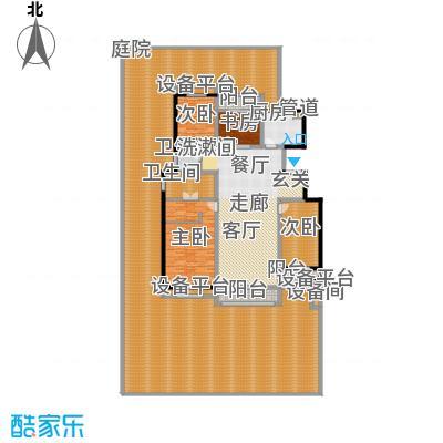朝阳首府162.35㎡洋房1f-1四室两厅两卫户型4室2厅2卫