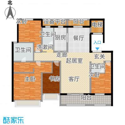 朝阳首府209.71㎡大平层房型四室两厅三卫户型4室2厅3卫