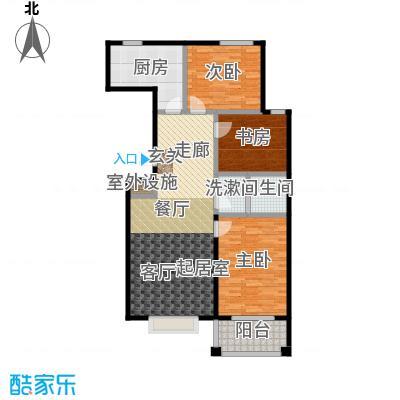 天元府邸109.20㎡C户型三室两厅一卫户型