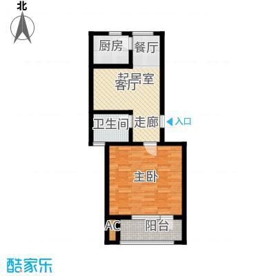 国际城月伴湾69.30㎡G1户型1室1厅1卫