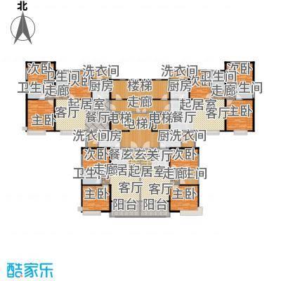 恒大绿洲96.00㎡52、53、54号楼2-32层平面图户型2室2厅1卫
