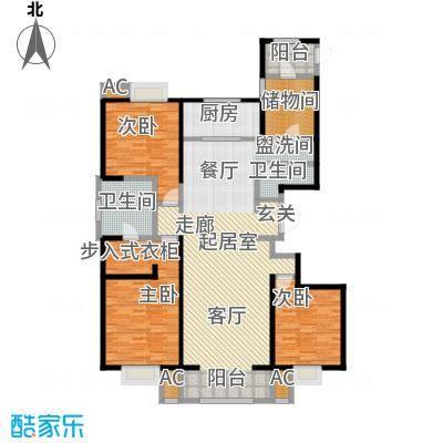 曲江观山悦户型3室2卫1厨