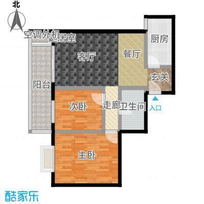 万福大厦(非社区)66.00㎡两室两厅户型