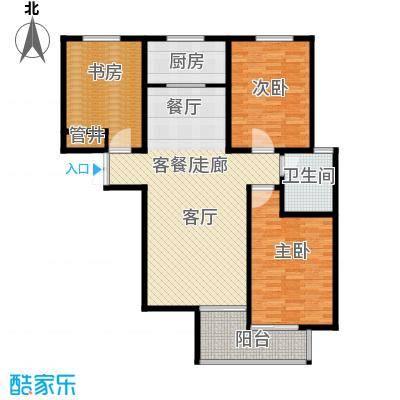 水印城115.70㎡户型3室2厅2卫