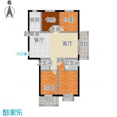 汇博丽景豪庭151.10㎡5#L-四室两厅两卫户型4室2厅2卫