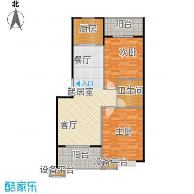 蔚海新天地86.90㎡LD5户型2室2厅1卫