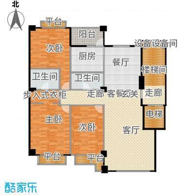 米兰DC二期169.25㎡三居一厅建筑面积169.25平方米户型