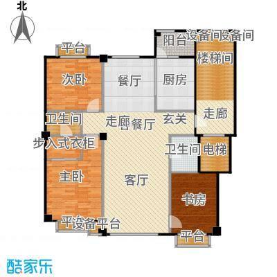 米兰DC二期136.95㎡三房一厅建筑面积136.95平方米户型