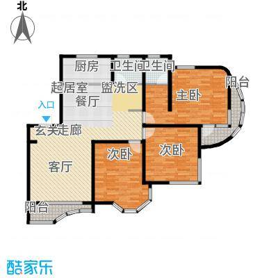 西湖城157.72㎡6#楼C户型3室2厅2卫