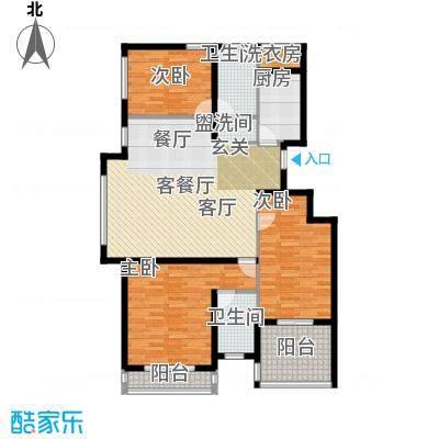 浦江国际100.33㎡项目建筑面积156平米户型3室2厅2卫