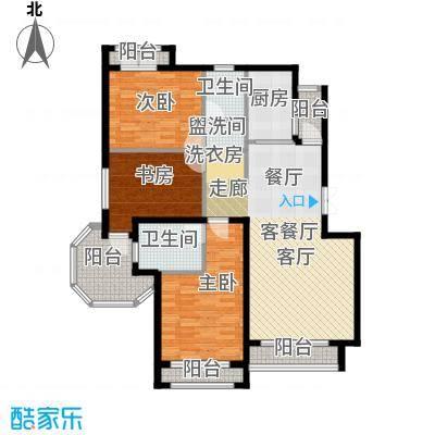 浦江国际92.63㎡项目建筑面积144平米户型3室2厅2卫