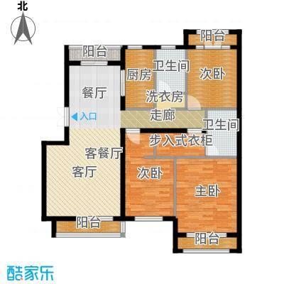 浦江国际96.28㎡项目建筑面积149平米户型3室2厅2卫