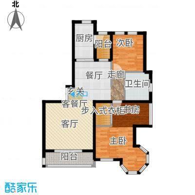 浦江国际84.01㎡项目建筑面积130平米户型2室2厅1卫