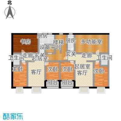 丽景花园145.86㎡C户型三室两厅两卫户型