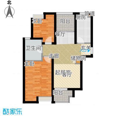 绿地金山老街70.00㎡金山房管(2009)预字0556号-二房二厅一卫-74平方米-56套户型