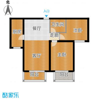 顺平水木清华93.53㎡两室两厅一卫户型2室2厅1卫