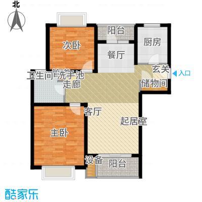 绿地金山老街F2两房两厅户型