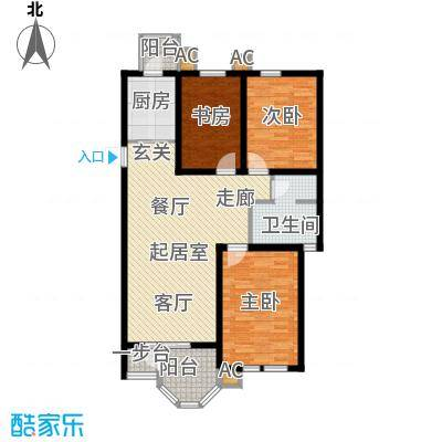 第6城三期3室2厅1卫户型