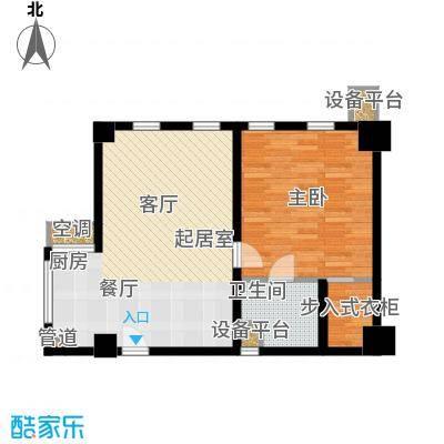 怡景.聚贤庭94.10㎡E1单身公寓 一室两厅一卫 94.10㎡户型1室2厅1卫