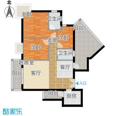曲江易公馆104.84㎡A6户型3室2厅2卫