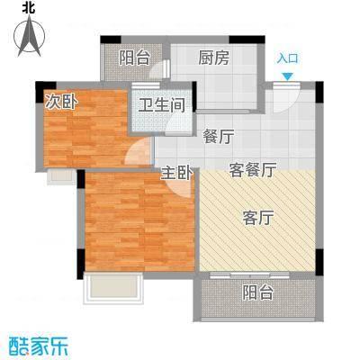 友田碧云轩78.55㎡6-11栋2-10层02单位户型2室1厅1卫1厨