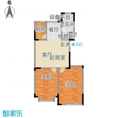 山水家园99.07㎡D户型2室2厅1卫