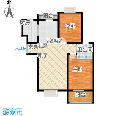 中登悦园96.69㎡6#楼C户型2室2厅1卫户型2室2厅1卫