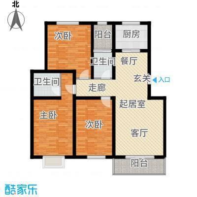怡园教师花园136.65㎡雅号型2号楼 三卧两厅一厨两卫一阳台户型