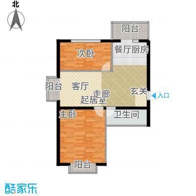 柒季城81.12㎡项目2室1厅1卫1厨81.12㎡户型2室1厅1卫