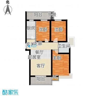 尚层名筑131.00㎡A1-131-三室一厅一卫户型-T