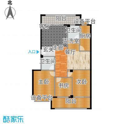 福华凯旋门三室两厅两卫户型